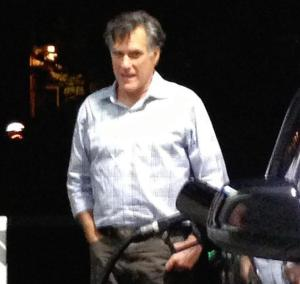 Whomp Whomp: Mitt Romney Back to Pumping His Own Gas in California