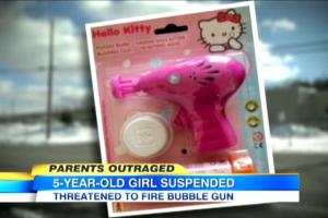 5-Year-Old Gets Suspended & Labeled as Terrorist Threat for Hello Kitty Bubble Gun